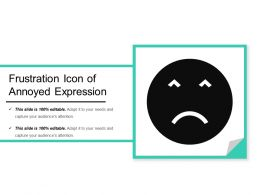 Frustration Icon Of Annoyed Expression