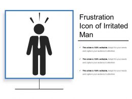 Frustration Icon Of Irritated Man