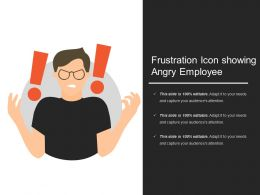Frustration Icon Showing Angry Employee
