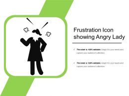 Frustration Icon Showing Angry Lady