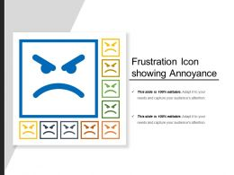 Frustration Icon Showing Annoyance