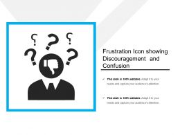 Frustration Icon Showing Discouragement And Confusion