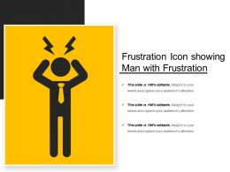 Frustration Icon Showing Man With Frustation