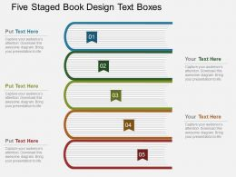 fs Five Staged Book Design Text Boxes Flat Powerpoint Design