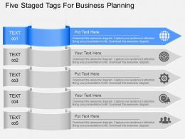 fs Five Staged Tags For Business Planning Powerpoint Template