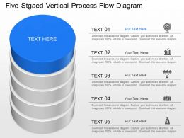 fs Five Staged Vertical Process Flow Diagram Powerpoint Template