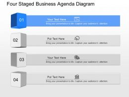 fs Four Staged Business Agenda Diagram Powerpoint Template