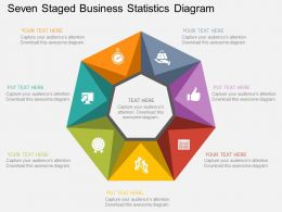 Fs Seven Staged Business Statistics Diagram Flat Powerpoint Design