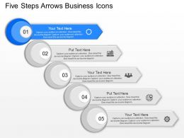 ft Five Steps Arrows Business Icons Powerpoint Template