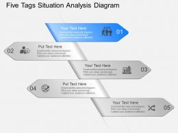 fu Five Tags Situation Analysis Diagram Powerpoint Template