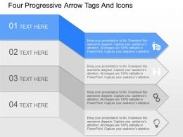 fu Four Progressive Arrow Tags And Icons Powerpoint Template