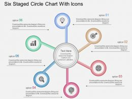 Fu Six Staged Circle Chart With Icons Flat Powerpoint Design
