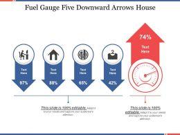 Fuel Gauge Five Downward Arrows House