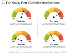 Fuel Gauge Four Clockwise Speedometers