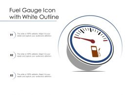 Fuel Gauge Icon With White Outline