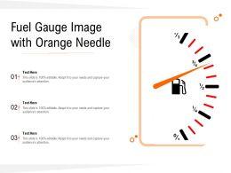 Fuel Gauge Image With Orange Needle