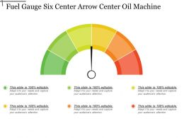 Fuel Gauge Six Center Arrow Center Oil Machine