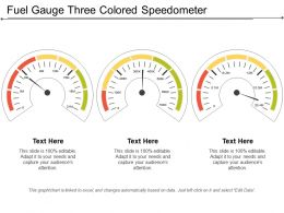 Fuel Gauge Three Colored Speedometer