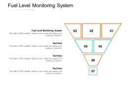 Fuel Level Monitoring System Ppt Powerpoint Presentation Model Background Image Cpb