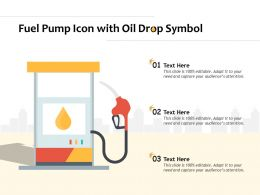 Fuel Pump Icon With Oil Drop Symbol