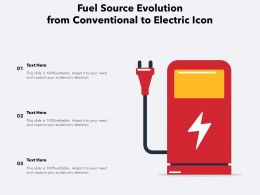 Fuel Source Evolution From Conventional To Electric Icon