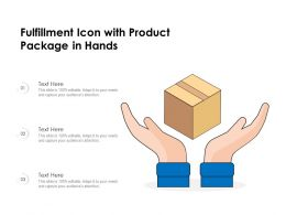 Fulfillment Icon With Product Package In Hands