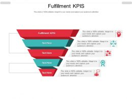 Fulfillment KPIS Ppt Powerpoint Presentation Portfolio Graphics Download Cpb