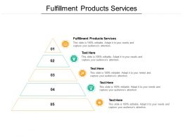 Fulfillment Products Services Ppt Powerpoint Presentation Portfolio Clipart Cpb