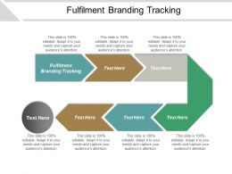 Fulfilment Branding Tracking Ppt Powerpoint Presentation Gallery Examples Cpb