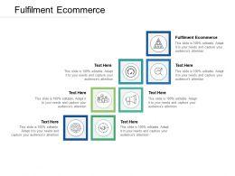 Fulfilment Ecommerce Ppt Powerpoint Presentation Portfolio Slides Cpb