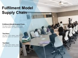 Fulfilment Model Supply Chain Ppt Powerpoint Presentation Professional Deck Cpb