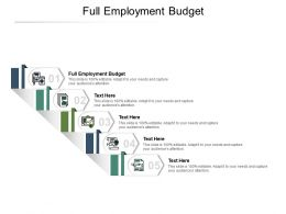 Full Employment Budget Ppt Powerpoint Presentation Outline Infographic Template Cpb