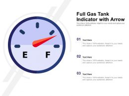 Full Gas Tank Indicator With Arrow