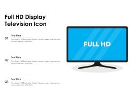 Full HD Display Television Icon