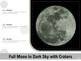 Full Moon In Dark Sky With Craters
