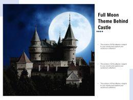 Full Moon Theme Behind Castle