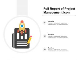 Full Report Of Project Management Icon