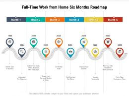 Full Time Work From Home Six Months Roadmap