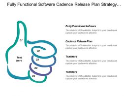 Fully Functional Software Cadence Release Plan Strategy Deliver