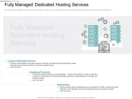 Fully Managed Dedicated Hosting Services Microsoft Ppt Powerpoint Presentation Icon Tips