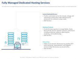 Fully Managed Dedicated Hosting Services Ppt Powerpoint Presentation Professional Graphics