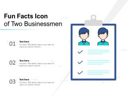 Fun Facts Icon Of Two Businessmen