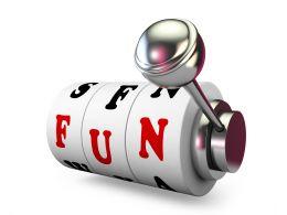Fun Text On Jackpot Lever Stock Photo