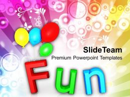 Fun With Colorful Balloons Holidays PowerPoint Templates PPT Themes And Graphics 0213