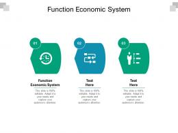 Function Economic System Ppt Powerpoint Presentation Infographic Template Ideas Cpb
