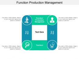 Function Production Management Ppt Powerpoint Presentation Slides Outfit Cpb
