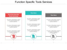 Function Specific Tools Services Ppt Powerpoint Presentation Model Portfolio Cpb