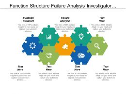 Function Structure Failure Analysis Investigator Support Sample Management Cpb