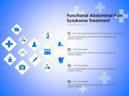 Functional Abdominal Pain Syndrome Treatment Ppt Powerpoint Presentation Infographic