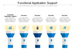 Functional Application Support Ppt Powerpoint Presentation Infographic Template Cpb